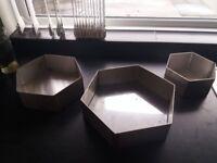 Hexagon cake tins