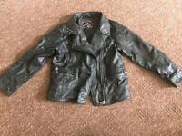 Girls 6-7 leather jacket