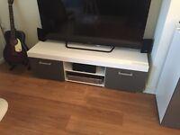 White / Gloss Grey living room set [Sideboard + TV unit + Cabinet]