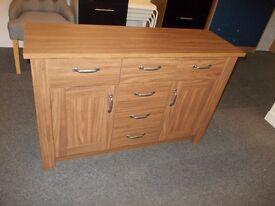 New ohio 6 draw 2 dr sideboard in oak effect