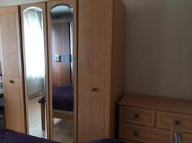 Full bedroom set with single bed