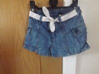 Girls Gap Denim Shorts Age 3