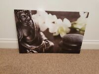 Excellent condition Budda canvas picture,