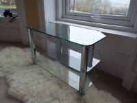 Chrome & Glass TV Stand