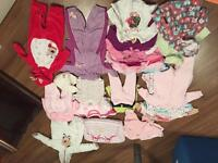 Baby girl's clothes lot