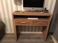 Oak sliding desk