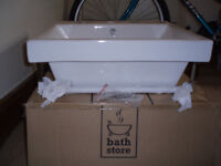 Bathstore Sink - Euro Duo 500mm with Towel Rail -