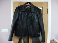 Leather Motorbike Jacket and Trousers