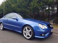 2007 MERCEDES CLK SPORT 320 CDI AUTOMATIC COUPE FULL SERVICE HISTORY DESIGNO MAURITIUS BLUE METALLIC