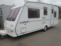 COMPASS CLERMONT SE 490/5 YEAR 2000 FIVE BERTH TOURING CARAVAN VERY MODERN AND LIGHTWEIGHT!
