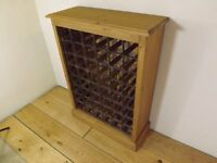"48 Bottle pine wine rack, new item made by local carpenter. 28"" width."