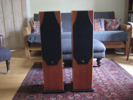 Monitor Audio Silver 5i Hi Fi Speakers in Cherry Wood finish.