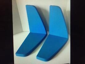 Ikea blue plastic wall shelves books