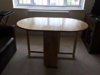 John Lewis Butterfly Folding Dining Table and 4 Chairs