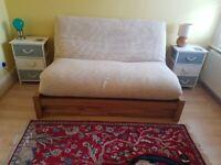 Oak Futon with under bed storage draw