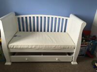 White Sleigh cotbed
