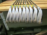 CALLAWAY X 20 TOUR IRONS,MEN RIGHT HAND,3 TO P/W,X 20 S/W,REG SHAFT.