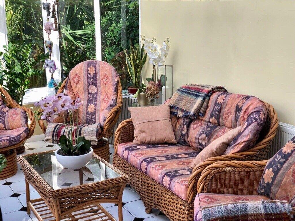 Free Consevatory Furniture Sofa Armchair 2x Swivel