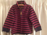 Boden Top for Boys, red / navy stripes, excellent condition, 2-3 year