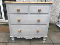 Up Cycled Antique Style Solid Pine Chest of Drawers (Can Deliver)