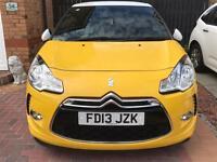 Citroen ds3 dstyle+ 2013 yellow brilliant car low mileage Ac model