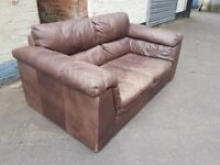 Leather sofa. FREE delivery in Derby