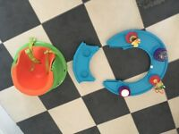 Baby bumbo style seat with toy tray....