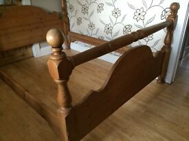KING SIZE PINE DOUBLE BED FRAME PERHAPS AN IDEAL SHABBY CHIC PROJECT?