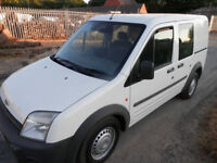 FORD TRANSIT CONNECT LX TDDi, 2004, TWIN SIDE LOADING DOORS WITH WINDOWS, LOVELY COND, DRIVES SUPERB