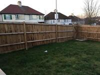 5 wooden fence panels 2.9x1.6m