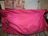 Large pink bean bag