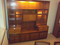 NATHAN Classic Teak - Display Dresser - Wall Unit - Cupboard - Sideboard