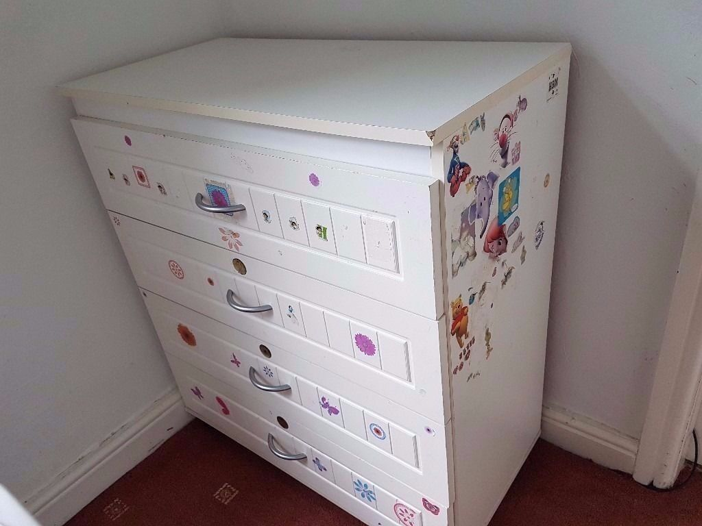 White Chest of Drawer