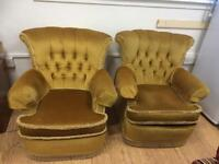 1970s suite 2 chairs & couch