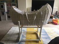 Stunning White Moses basket