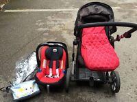 Britax B-Smart 3 pushchair with Car seat