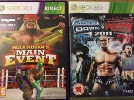 Xbox 360 WWE Raw vs Smckdown 2011 + Kinect Hulk Hogan Main Event