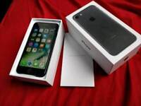 *NEW Apple iPhone 7 matte black 32gb, O2, Tesco, giff gaff boxed charger fully working