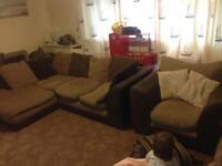 Corner sofa & armchair