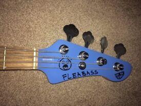 FLEABASS 'WATER BASS' BLUE WITH ORANGE SCRATCH BOARD