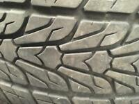 2 Roadian HP 107 rated tyres 255/50/19