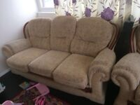 In good condition sofa with two armchairs to sell just for £80