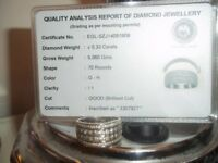 beautiful white gold diamond ring size Q with card 33.0 ct diamonds
