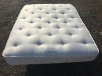 Vispring Baronet Supreme Double Mattress, Excellent Clean Condition Free Delivery In Norwich,