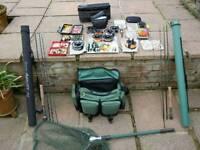 Fishing Equipment Bundle Rod Net Reel Bag Fly Flies