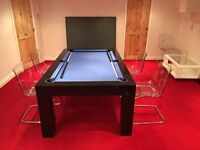 High Gloss Milano Pool/ snooker, table tennis / ping pong and dinning table.