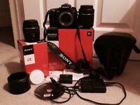 SONY DSLR a580L kit in perfect condition