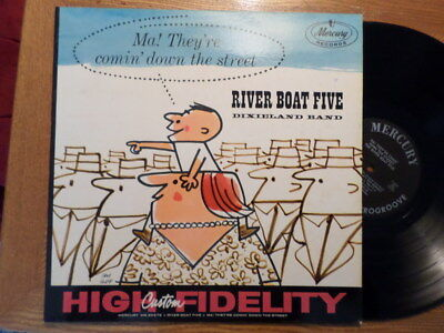 MERCURY LP RECORD MONO MG 20379/RIVER BOAT FIVE DIXIELAND BAND/THEY'RE COMIN