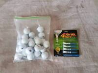 Golf tee (New) and 26 golf balls