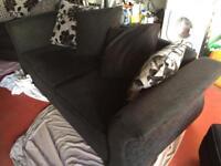 2 man Sofa and Swivel chair